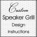 Custom Speaker Grill Design Instructions