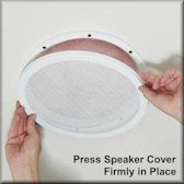 White, Round Ceiling Speaker Covers